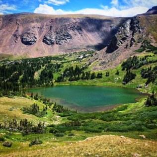 Glacial lake below Heat Lake