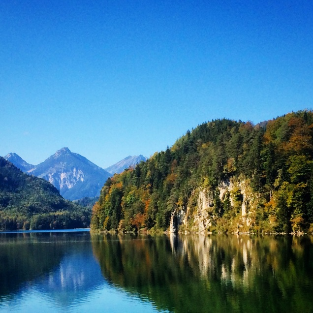 Alps and Lake near Neuschwannstein