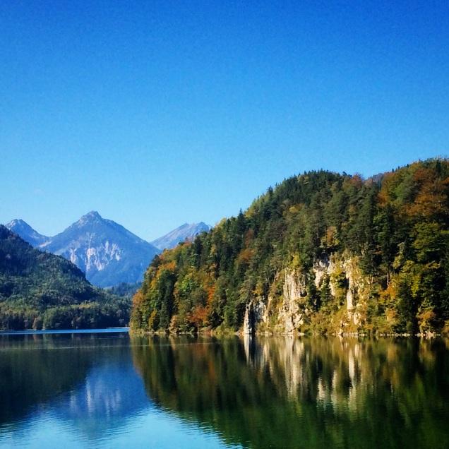 Alps and Lake near Neuschwannstein